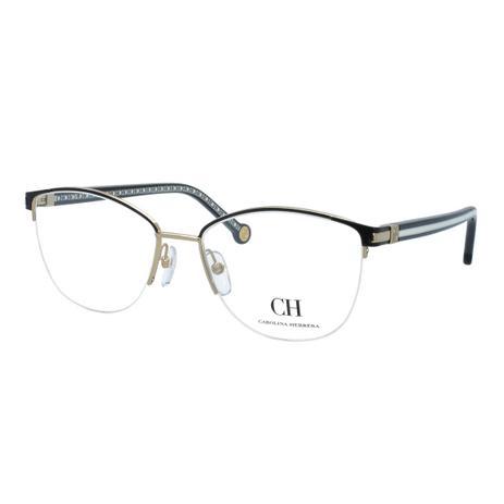 e2ae84b5b Óculos de Grau Carolina Herrera Feminino VHE112 0304 - Metal e Acetato  Preto com Fio de Nylon