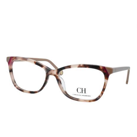 Óculos de Grau Carolina Herrera Feminino VHE806L 0AGK - Acetato Tartaruga  Marrom e Bege 1e37443a51