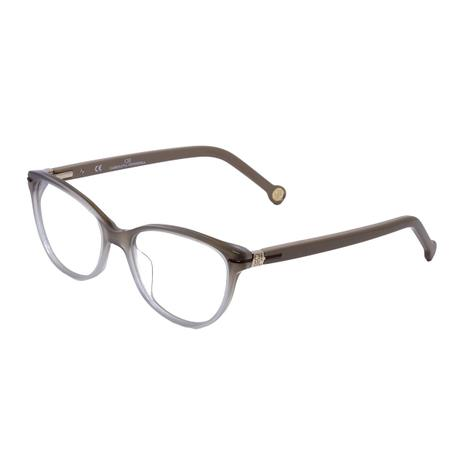 Óculos de Grau Carolina Herrera VHE660 COL.OWTQ - Acetato Bege Degradê 4d8796506f