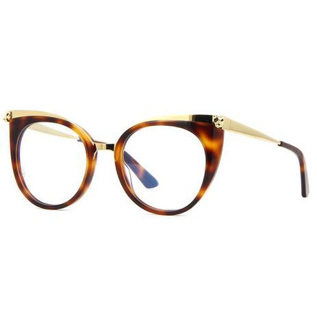 eb173fc44 Óculos de Grau Cartier 0123 O 002 - Óculos de sol feminino ...