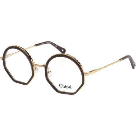 1acf41163 Óculos de Grau Chloé Tilda 2143 Marrom 210 - Progressiva para ...