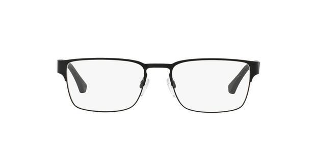 Óculos de Grau Emporio Armani EA1027 3001 Preto Fosco Lentes Tam 55 ... 4787f5701d