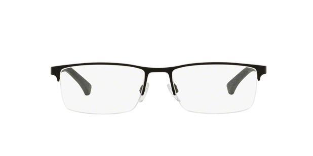 b2e766147 Menor preço em Óculos de Grau Emporio Armani EA1041 3094 Preto Prata Lentes  Tam 55