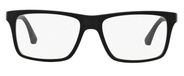 9740a413bc41a Óculos de Grau Emporio Armani EA3034 5229 Preto Fosco Lentes Tam 55 ...