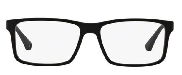 Óculos de Grau Emporio Armani EA3038 5063 Preto Lentes Tam 56 ... 720c901bf2