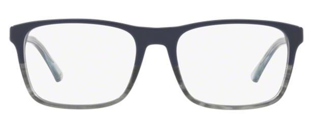 dcf7d0b5a7813 Óculos de Grau Emporio Armani EA3120 5572 Azul Lentes Tam 55 ...