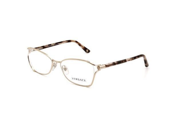 235f465ba Óculos de Grau Feminino Versace Metal Mesclado Dourado - Óptica ...