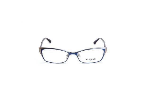 001f688b3 Oculos de Grau Feminino Vogue Metal Gatinho Azul - Óculos de grau ...