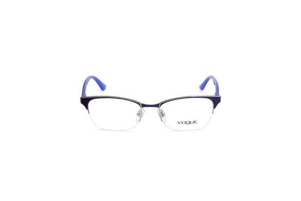115cf1b09 Oculos de Grau Feminino Vogue Metal Quadrado Azul - Óculos de grau ...