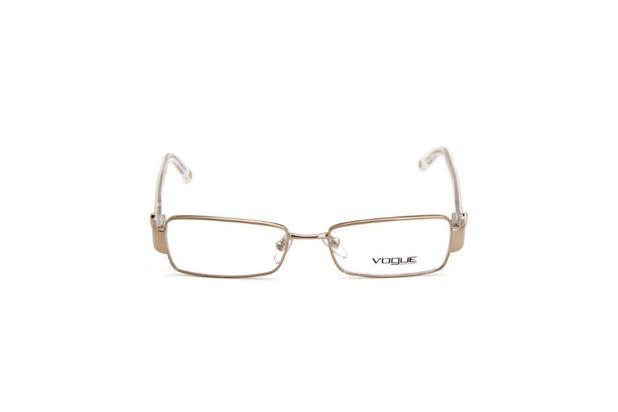 4c488137b Oculos de Grau Feminino Vogue Metal Quadrado Dourado - Óculos de ...