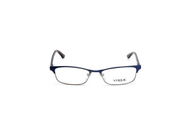 11a687017 Oculos de Grau Feminino Vogue Quadrado Metal Azul - Óculos de grau ...