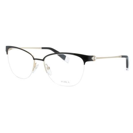 f378d9546 Óculos de Grau Fio de Nylon Furla Feminino VFU188S 0304 - Metal Preto e  Dourado