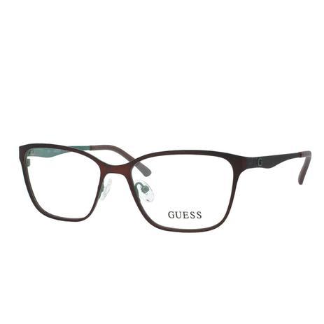 ebd4ed7a6 Óculos de Grau Guess Feminino GU2511 C049 T52 - Metal Marrom e Verde Militar  Fosco