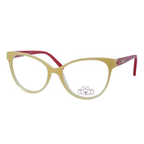 Óculos de Grau Infantil Lilica Ripilica Feminino VLR083 C3 - Acetato Bege e  Vermelho 6fd78f9fe6