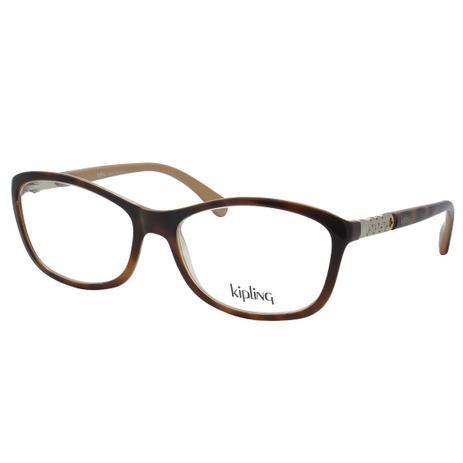 fc9ca139cf068 Óculos de Grau Kipling Infantil KP3063 CC612 - Acetato Tartaruga Marrom