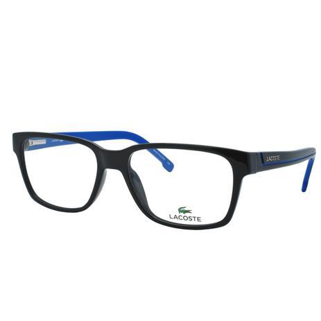 878816b0dced1 Óculos de Grau Lacoste Masculino L2692 002 - Acetato Preto e Azul ...