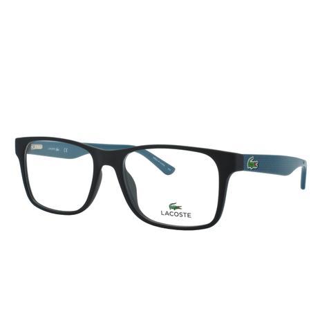 8aa86d942ffd3 Óculos de Grau Lacoste Masculino L2741 004 - Acetato Preto e Verde ...
