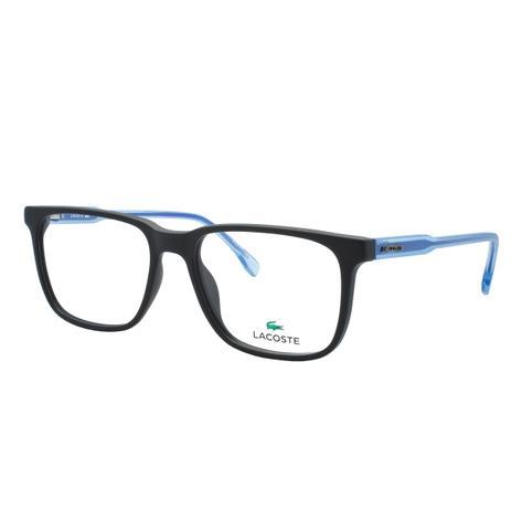 86b63fe870aea Óculos de Grau Lacoste Masculino L2810 002 - Acetato Preto e Azul ...