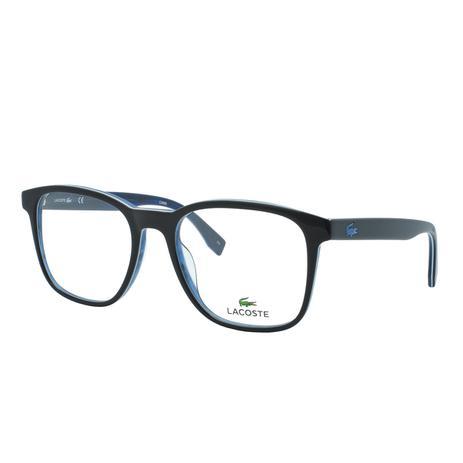 Óculos de Grau Lacoste Masculino L2812 001 - Acetato Preto e Azul ... acfdfff7c3