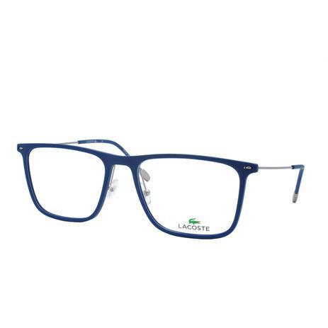 8fd56c753 Óculos de Grau Lacoste Masculino L2829 424 - Acetato Azul - Óptica ...