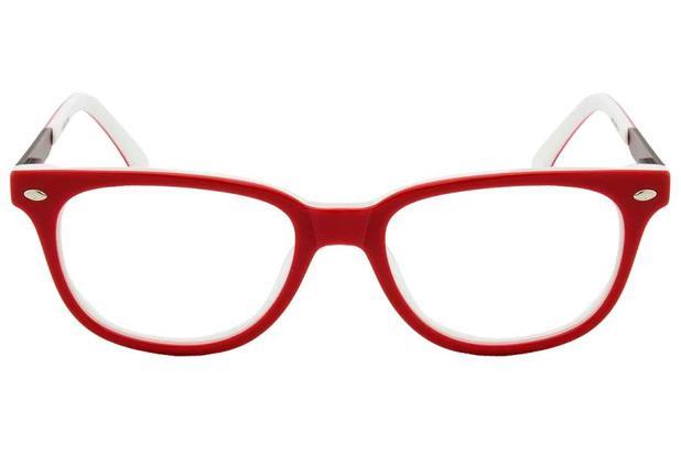 Óculos de Grau Lilica Ripilica VLR072 C3 49 Vermelho Branco - Óptica ... 26d9c8a673