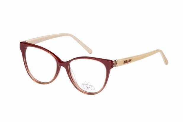 Óculos de Grau Lilica Ripilica VLR083 C4 50 Vermelho Bege - Óptica ... 232194ce79