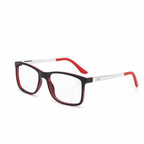 32ed644ec Óculos de grau mormaii pequim aluminio preto parede vermelho PRETO ...