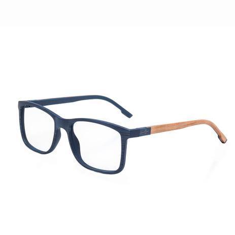 Imagem de Óculos de Grau Mormaii Pequim Wood Masculino M6067K9053 - Acetato Azul Riscado Fosco