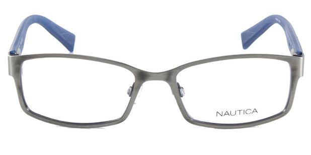 4a54ba276adf2 Óculos de Grau NAUTICA N7248 Prata Azul - Óptica - Magazine Luiza