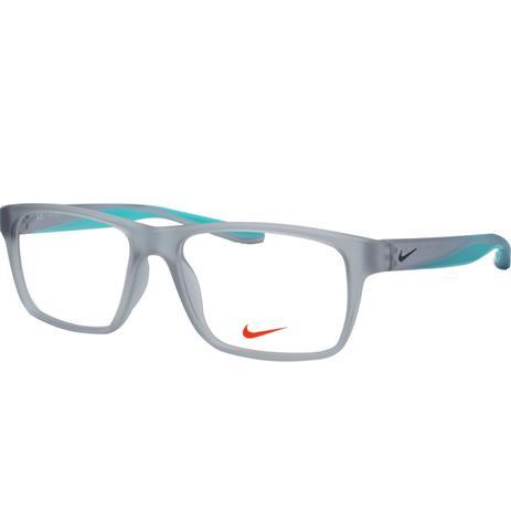 45d96bf352da1 Óculos de Grau Nike Masculino NIKE7101 050 - Acetato Cinza Translúcido e  Verde Água