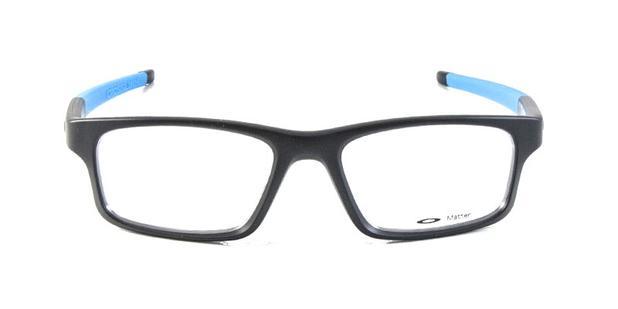 e7823a062 Óculos de Grau Oakley Crosslink OX8037 Preto e Azul Fluorescente ...