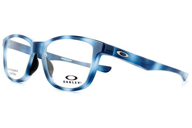 705e5b2d7e234 Óculos de Grau Oakley Frame Cross Step OX8106 810605 52 Azul ...