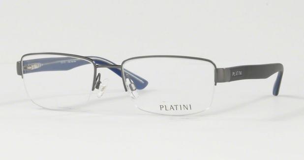 7446744216bfd Óculos de Grau Platini Masculino Grafite P91149 Tam.54 - Óptica ...