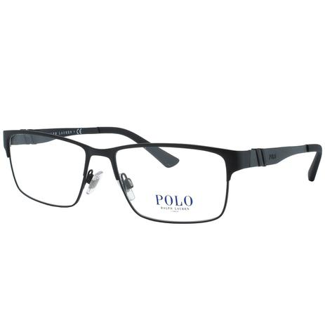 0d8b9880311e2 Óculos de Grau Polo Ralph Lauren Masculino PH1147 9038 - Metal Preto ...