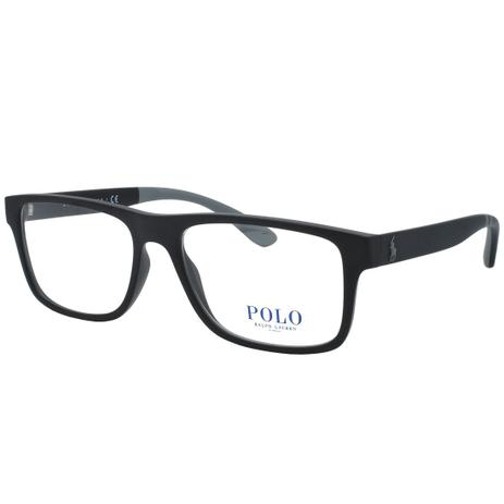 Óculos de Grau Polo Ralph Lauren Masculino PH2182 5523 - Acetato Preto 33840a9c90