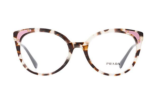 f1c89397a6817 Óculos de Grau Prada PR 12UV UAO1O1 53 Marrom - Óculos de grau ...