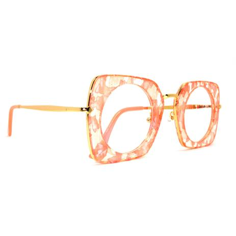 68ee3a2adc5fd Óculos de grau Rafaello RFA103 Acetato c  Metal - Armação - Óculos ...
