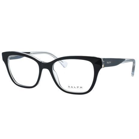 Óculos de Grau Ralph Feminino RA7099 5695 - Acetato Preto e Transparente - Ralph  lauren 0bcb33b1c8