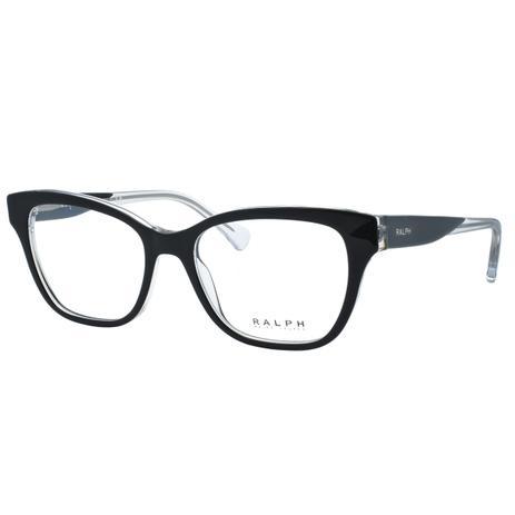 51d1fa5940eca Óculos de Grau Ralph Feminino RA7099 5695 - Acetato Preto e Transparente -  Ralph lauren
