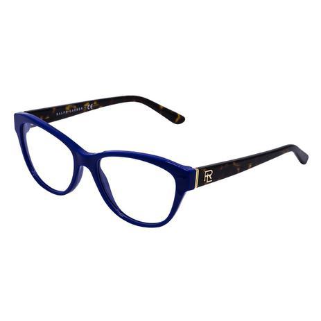 8426a2021 Óculos de Grau Ralph Lauren Feminino RL6145 C5547 - Acetato Azul, Tartaruga