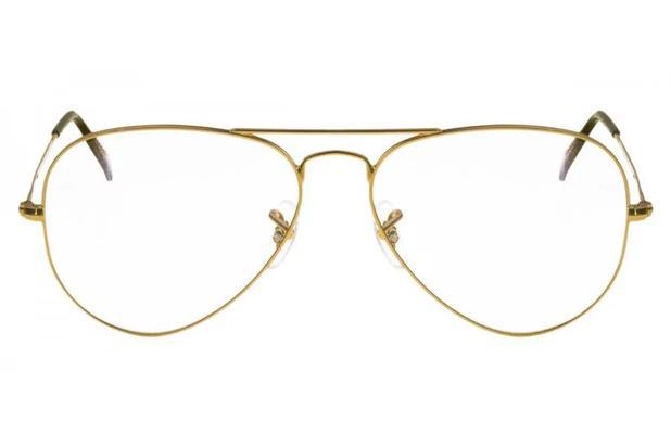 303b52590 Óculos de Grau Ray Ban Aviador RX6049L 2500/55 Dourado - Óculos de ...