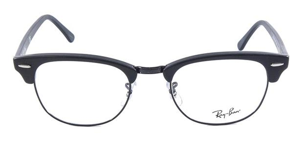1146f4b301ece Óculos de Grau Ray Ban Clubmaster RB5154 Preto Fosco - Ray-ban ...