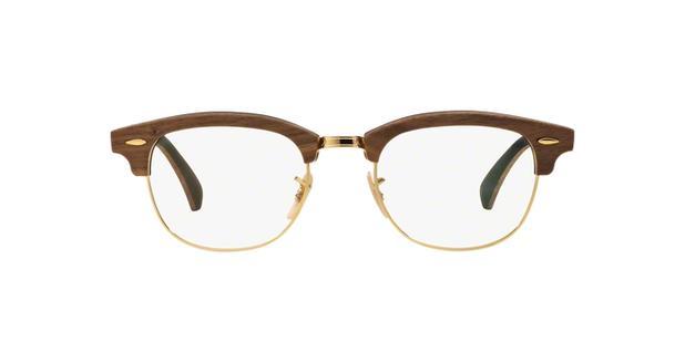 d536985299 denmark Óculos de grau ray ban clubmaster wood rb5154 5560 madeira preto  lente tam 51 ray