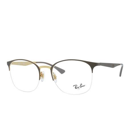0907cf621334f Óculos de Grau Ray Ban Feminino RX6422 3005 - Metal com Fio de Nylon ...