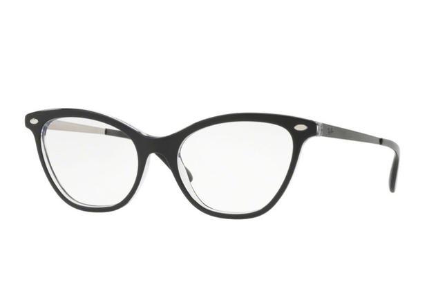 242e03fd6 Óculos De Grau Ray Ban Gatinho Preto RB5360 2034 Tam. 54 - Ray ban original