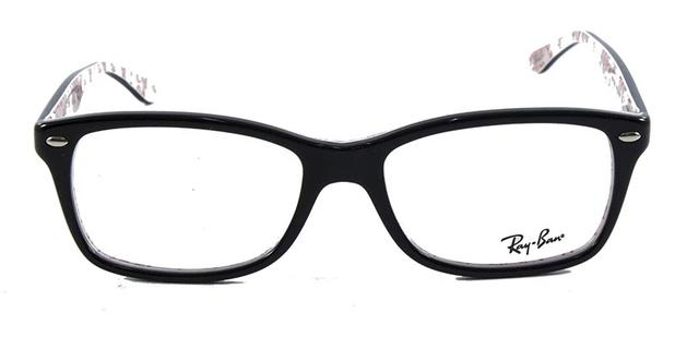 Óculos de Grau Ray Ban Highstreet RB5228 Preto Branco - Ray-ban ... cd5f476728