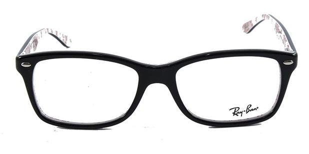 f8848e3f1ce8a Óculos de Grau Ray Ban Highstreet RB5228 Preto Branco - Ray-ban ...
