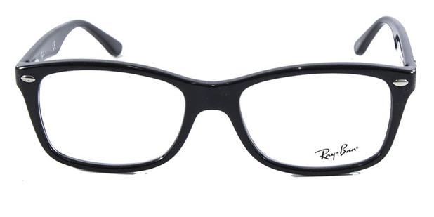 49f4617a104e1 Óculos de Grau Ray Ban Highstreet RB5228 Preto - Óculos de grau ...