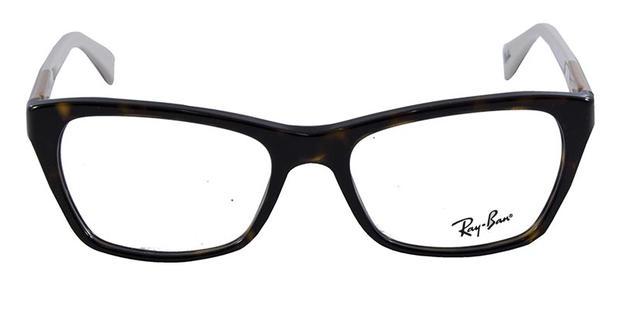 0df9cc5c7e2a9 Óculos de Grau Ray Ban Highstreet RB5298 Tartaruga Nude - Ray-ban ...