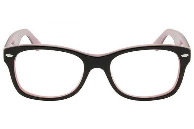 ff14e217a8 Óculos de Grau Ray Ban Junior RY1528 3580/48 Preto/Rose ...